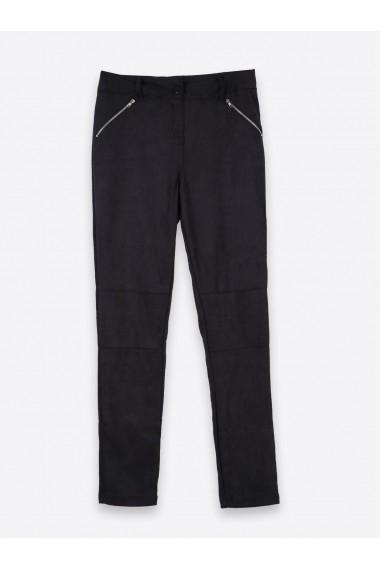 Pantaloni drepti Troll TSP1307CA Negru