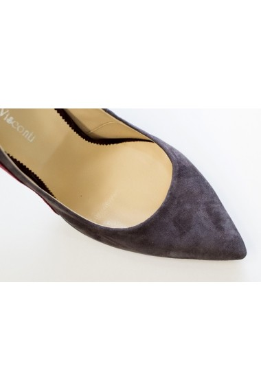 Pantofi cu toc eleganti din piele intoarsa Thea Visconti P-410/18/949
