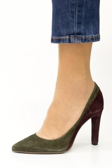 Pantofi cu toc eleganti Thea Visconti P-412/18/949 mov- turqoise