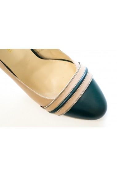 Pantofi cu toc Thea Visconti P-428/18/4725 bej-verde