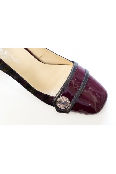 Pantofi cu toc office Thea Visconti P-445/18/987 visiniu
