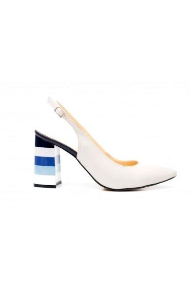 Pantofi cu toc Thea Visconti PS-283-19-613 Alb