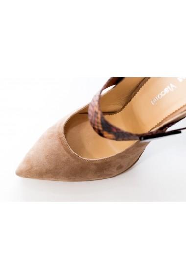 Pantofi din piele intoarsa Thea Visconti PS-19-949 Roz