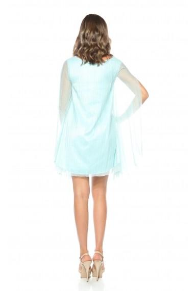Rochie bleu Roserry din tulle