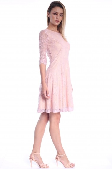 Rochie roz Roserry clos din dantela -  CRM_1RSY580