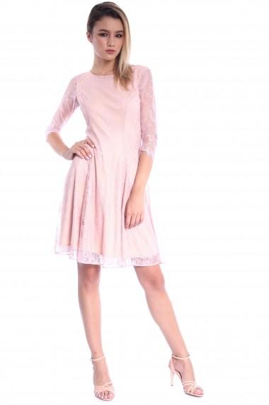 Rochie roz Roserry clos din dantela - CRM 1RSY580