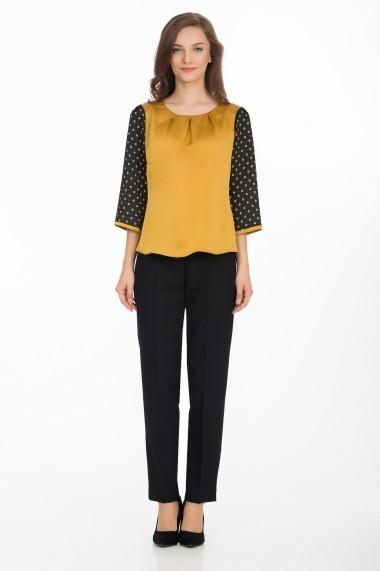 Bluza Sense Selma negru+mustar