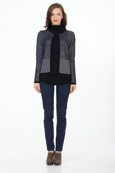 Jacheta Sense Odette negru+alb