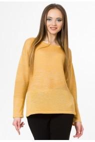 Pulover Sense tricotat Anna mustar