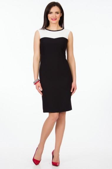 Rochie de zi Sense Vivian negru+alb