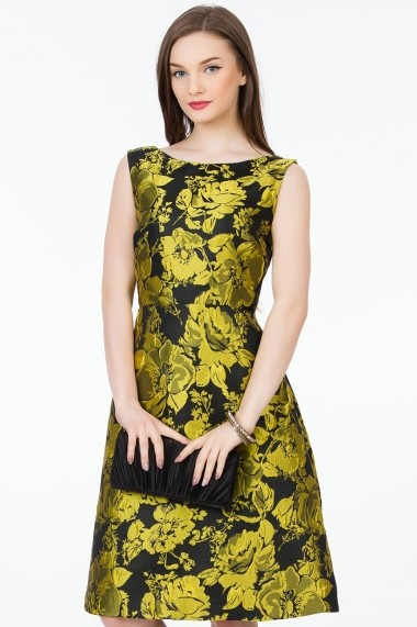 Rochie de seara Sense Briana negru+galben
