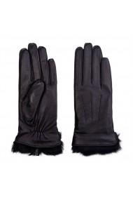 Manusi NISSA elegante din piele naturala Negru