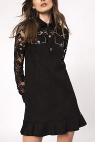Rochie NISSA cu insertie din dantela Negru