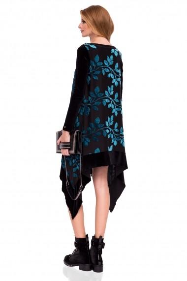 Rochie NISSA eleganta asimetrica Print
