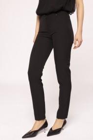 Pantaloni drepti NISSA slim office Negru