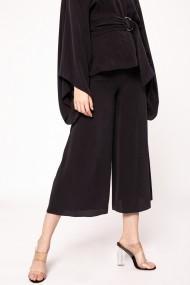 Pantaloni trei sferturi NISSA din cupro tip culotte Negru