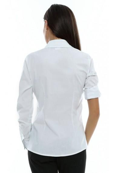 Camasa pentru femei Crisstalus cu maneca reglabila alba