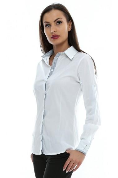 Camasa pentru femei Crisstalus cu maneca lunga alba