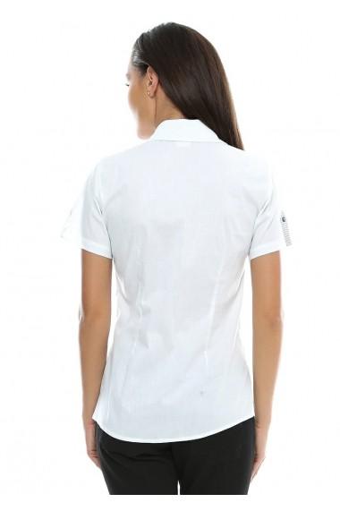 Camasa pentru femei Crisstalus cu maneca scurta alba