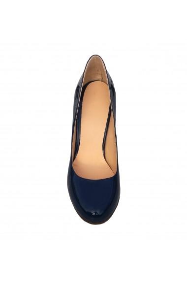Pantofi cu toc Crisstalus din piele naturala, cu toc printat si gravat