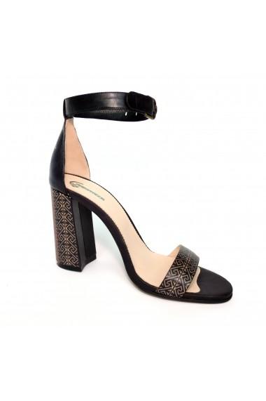 Sandale cu toc Crisstalus din piele naturala