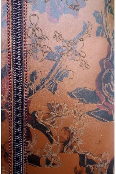 Cizme Crisstalus din piele naturala cu model floral