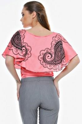 Bluza Crisstalus cu print digital, din vascoza
