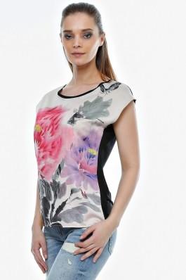 Bluza Crisstalus cu print floral digital