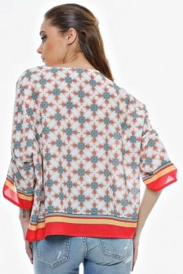 Bluza Crisstalus ampla, cu print digital