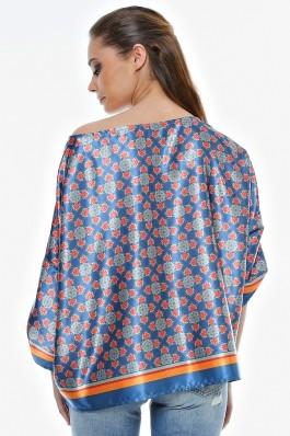 Bluza Crisstalus multicolora, cu imprimeu digital