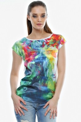 Bluza Crisstalus cu imprimeu digital multicolor