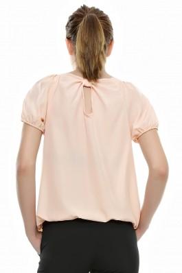Bluza Crisstalus cu maneca scurta, piersica