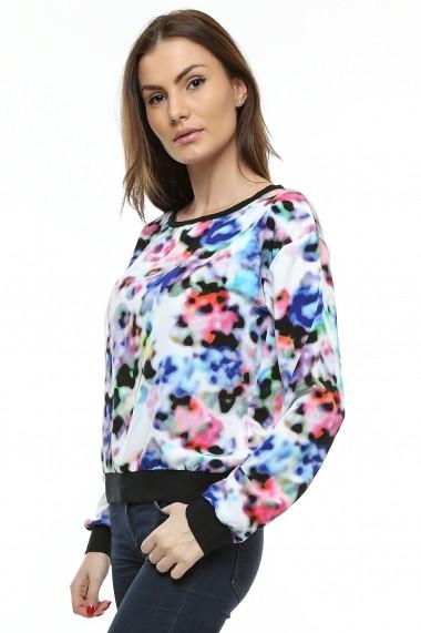 Bluza Crisstalus multicolora, cu maneca lunga