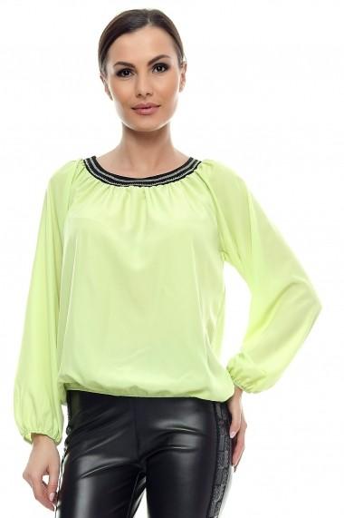 Bluza pentru femei marca Crisstalus Verde din vascoza si matase