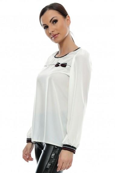 Bluza pentru femei marca Crisstalus Crem cu maneca lunga