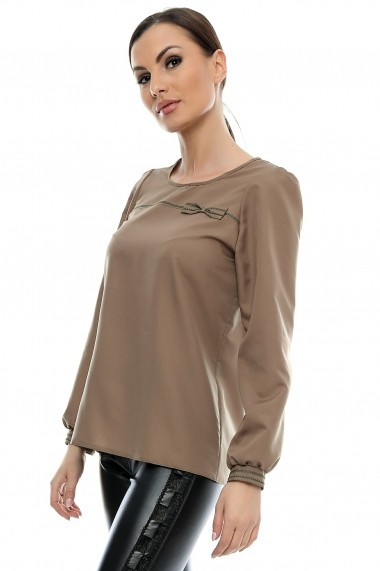 Bluza pentru femei marca Crisstalus Maro din vascoza si matase