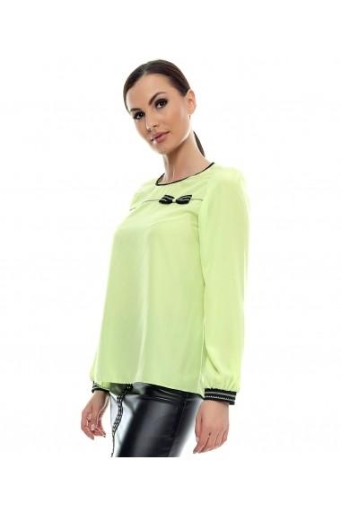 Bluza pentru femei marca Crisstalus Verde, din vascoza si matase