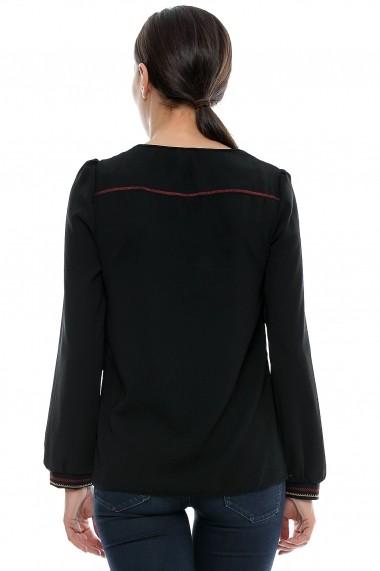 Bluza pentru femei marca Crisstalus Neagra cu maneca lunga