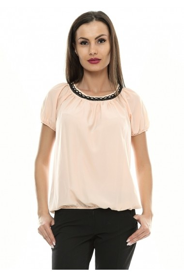 Bluza pentru femei Crisstalus cu aplicatii de dantela brodata
