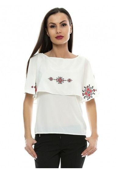 Bluza pentru femei Crisstalus cu volan, printata digital