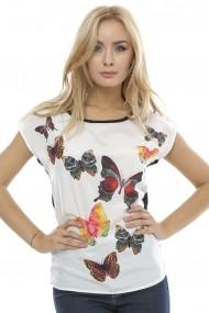 Bluza pentru femei Crisstalus cu print Multicolor