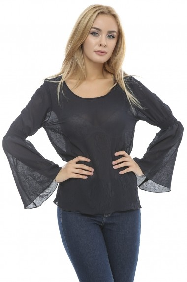 Bluza pentru femei Crisstalus cu maneci evazate