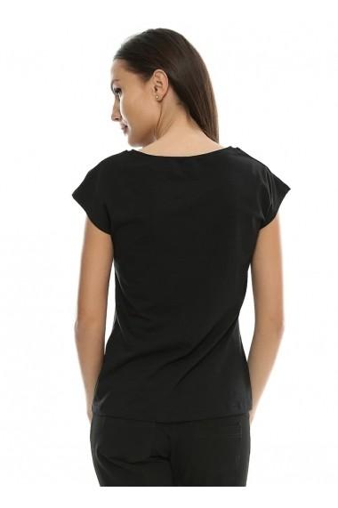 Tricou Crisstalus negru din bumbac