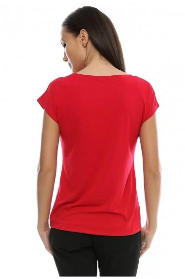 Tricou Crisstalus rosu din bumbac