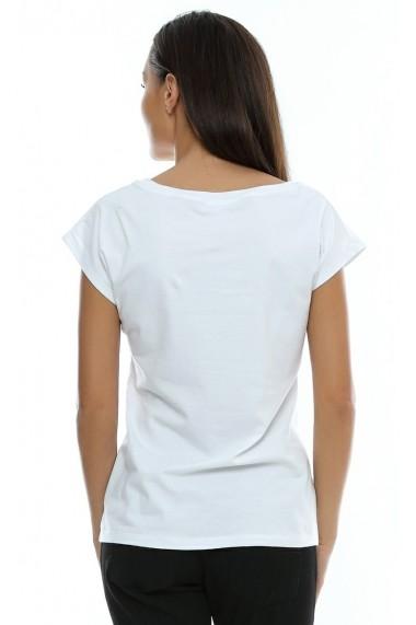 Tricou Crisstalus alb din bumbac