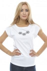 Tricou Crisstalus imprimat, alb din bumbac