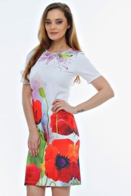 Rochie Crisstalus cu print floral digital