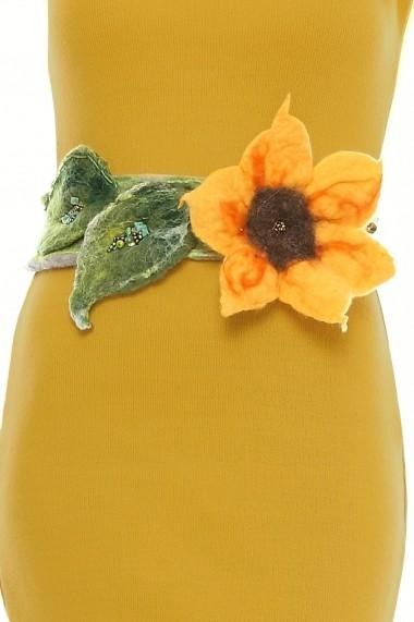 Rochie de zi Crisstalus galbena conica