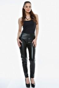 Pantalon Drept Crisstalus negri din piele ecologica