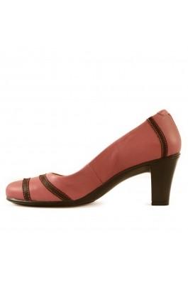 Pantofi Mopiel roz din piele naturala